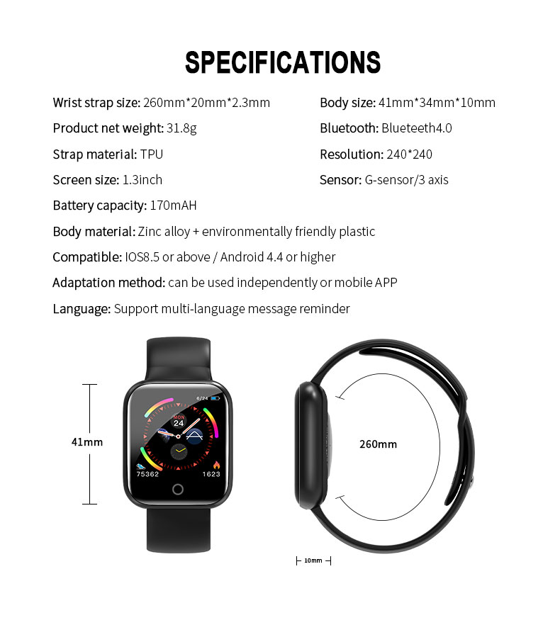 B57 Smartwatch For Android IOS phone